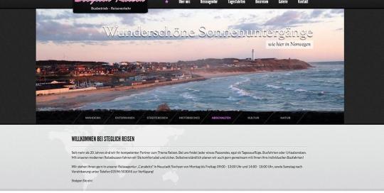Website von Steglich Reisen aus Neustadt/Sachsen